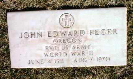 FEGER, JOHN EDWARD - Yavapai County, Arizona | JOHN EDWARD FEGER - Arizona Gravestone Photos