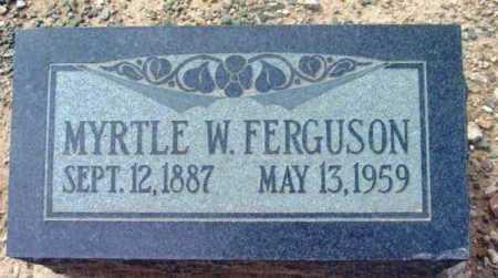 FERGUSON, MYRTLE W. - Yavapai County, Arizona   MYRTLE W. FERGUSON - Arizona Gravestone Photos