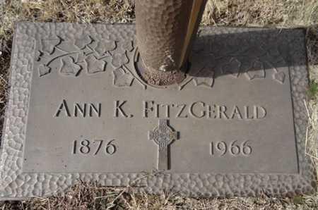 FITZGERALD, ANN L. - Yavapai County, Arizona   ANN L. FITZGERALD - Arizona Gravestone Photos