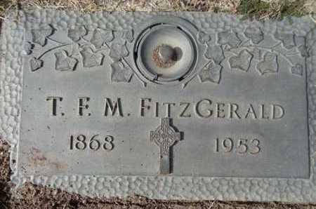FITZGERALD, THOMAS F. M. - Yavapai County, Arizona | THOMAS F. M. FITZGERALD - Arizona Gravestone Photos