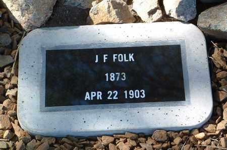 FOLK, J. F. - Yavapai County, Arizona | J. F. FOLK - Arizona Gravestone Photos