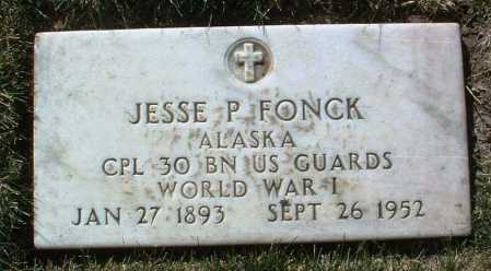 FONCK, JESSE P. - Yavapai County, Arizona | JESSE P. FONCK - Arizona Gravestone Photos