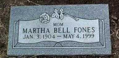 FONES, MARTHA BELL - Yavapai County, Arizona   MARTHA BELL FONES - Arizona Gravestone Photos