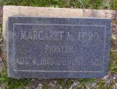 FORD, MARGARET M. - Yavapai County, Arizona   MARGARET M. FORD - Arizona Gravestone Photos