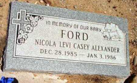 FORD, NICOLA LEVI C. A. - Yavapai County, Arizona | NICOLA LEVI C. A. FORD - Arizona Gravestone Photos