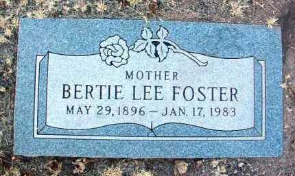FOSTER, BERTIE LEE - Yavapai County, Arizona   BERTIE LEE FOSTER - Arizona Gravestone Photos