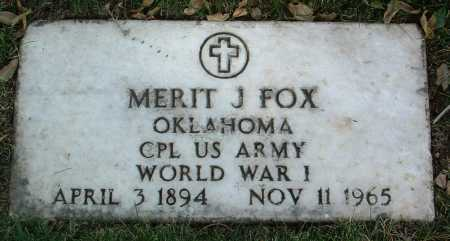 FOX, MERIT J. - Yavapai County, Arizona | MERIT J. FOX - Arizona Gravestone Photos