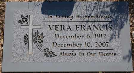 O'BRIANT FRANCIS, VERA - Yavapai County, Arizona   VERA O'BRIANT FRANCIS - Arizona Gravestone Photos