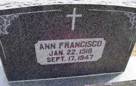 FRANCISCO, ANN FRANCES - Yavapai County, Arizona | ANN FRANCES FRANCISCO - Arizona Gravestone Photos