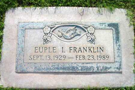 FRANKLIN, EUPLE I. - Yavapai County, Arizona | EUPLE I. FRANKLIN - Arizona Gravestone Photos