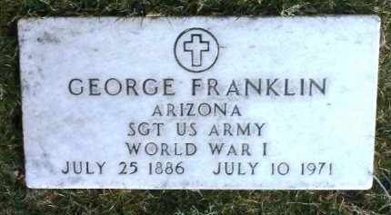 FRANKLIN, GEORGE - Yavapai County, Arizona | GEORGE FRANKLIN - Arizona Gravestone Photos