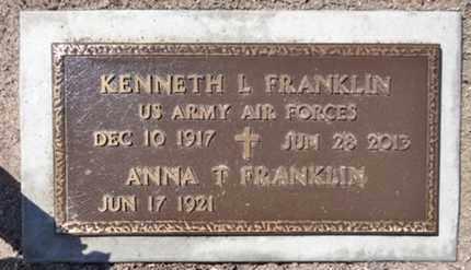 FRANKLIN, KENNETH LEROY - Yavapai County, Arizona | KENNETH LEROY FRANKLIN - Arizona Gravestone Photos