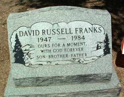 FRANKS, DAVID RUSSELL - Yavapai County, Arizona | DAVID RUSSELL FRANKS - Arizona Gravestone Photos