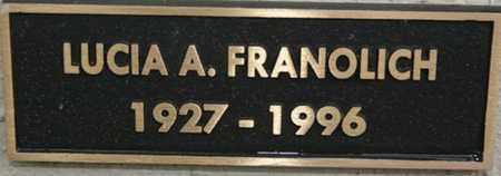 HINARDI FRANOLICH, LUCIA - Yavapai County, Arizona | LUCIA HINARDI FRANOLICH - Arizona Gravestone Photos