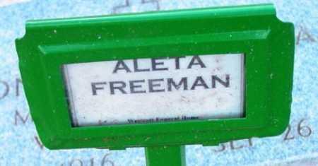 FREEMAN, ALETA - Yavapai County, Arizona   ALETA FREEMAN - Arizona Gravestone Photos