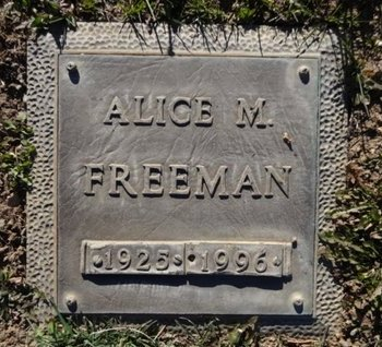 FREEMAN, ALICE MAE - Yavapai County, Arizona | ALICE MAE FREEMAN - Arizona Gravestone Photos