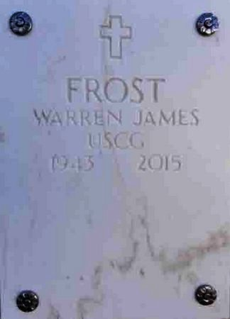 FROST, WARREN JAMES - Yavapai County, Arizona | WARREN JAMES FROST - Arizona Gravestone Photos