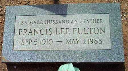 FULTON, FRANCIS LEE - Yavapai County, Arizona | FRANCIS LEE FULTON - Arizona Gravestone Photos
