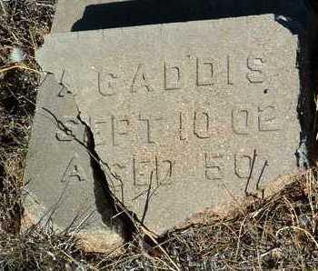 GADDIS, ALFRED A. - Yavapai County, Arizona   ALFRED A. GADDIS - Arizona Gravestone Photos