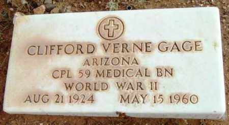 GAGE, CLIFFORD VERNE - Yavapai County, Arizona | CLIFFORD VERNE GAGE - Arizona Gravestone Photos