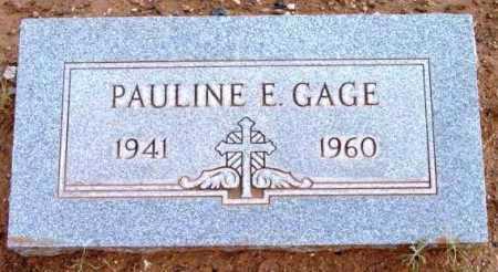 GAGE, PAULINE EVELYN - Yavapai County, Arizona   PAULINE EVELYN GAGE - Arizona Gravestone Photos