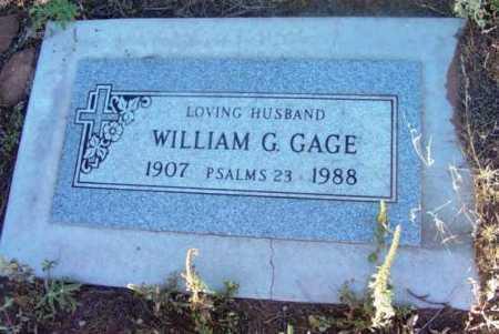 GAGE, WILLIAM G. - Yavapai County, Arizona | WILLIAM G. GAGE - Arizona Gravestone Photos