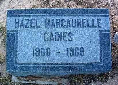 GAINES, HAZEL - Yavapai County, Arizona   HAZEL GAINES - Arizona Gravestone Photos