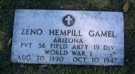 GAMEL, ZENO HEMPILL - Yavapai County, Arizona   ZENO HEMPILL GAMEL - Arizona Gravestone Photos