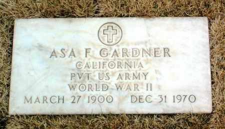 GARDNER, ASA F. - Yavapai County, Arizona | ASA F. GARDNER - Arizona Gravestone Photos