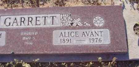GARRETT, ALICE AVANT - Yavapai County, Arizona | ALICE AVANT GARRETT - Arizona Gravestone Photos
