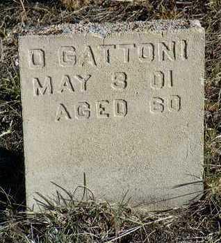 GATTONI, D. / JACOB - Yavapai County, Arizona | D. / JACOB GATTONI - Arizona Gravestone Photos