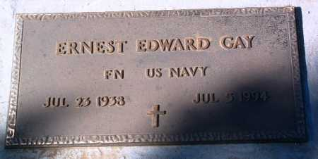 GAY, ERNEST EDWARD - Yavapai County, Arizona | ERNEST EDWARD GAY - Arizona Gravestone Photos