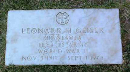 GEISER, LEONARD HERMAN - Yavapai County, Arizona | LEONARD HERMAN GEISER - Arizona Gravestone Photos