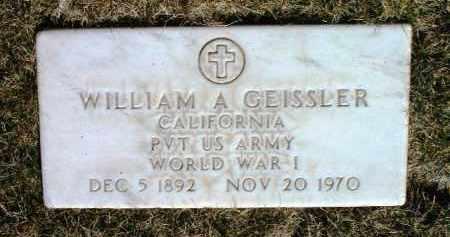 GEISSLER, WILLIAM AMBROSE - Yavapai County, Arizona | WILLIAM AMBROSE GEISSLER - Arizona Gravestone Photos