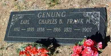 GENUNG, CHARLES BALDWIN - Yavapai County, Arizona   CHARLES BALDWIN GENUNG - Arizona Gravestone Photos