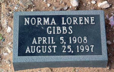 GIBBS, NORMA LORENE - Yavapai County, Arizona | NORMA LORENE GIBBS - Arizona Gravestone Photos