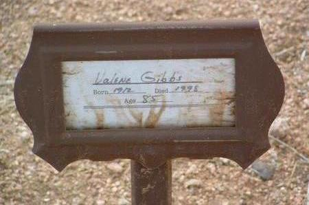 GIBBS, VALENE / VALINE - Yavapai County, Arizona | VALENE / VALINE GIBBS - Arizona Gravestone Photos