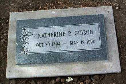 GIBSON, KATHERINE P. - Yavapai County, Arizona   KATHERINE P. GIBSON - Arizona Gravestone Photos