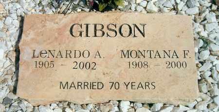 GIBSON, LENARDO ALEXANDER - Yavapai County, Arizona | LENARDO ALEXANDER GIBSON - Arizona Gravestone Photos