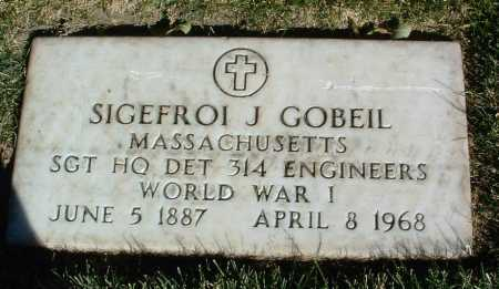 GOBEIL, SIGEFROI J. - Yavapai County, Arizona | SIGEFROI J. GOBEIL - Arizona Gravestone Photos