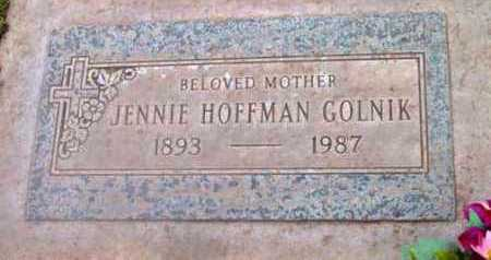 HOFFMAN GOLNIK, JENNIE - Yavapai County, Arizona | JENNIE HOFFMAN GOLNIK - Arizona Gravestone Photos