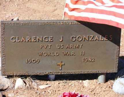 GONZALES, CLARENCE J. - Yavapai County, Arizona   CLARENCE J. GONZALES - Arizona Gravestone Photos