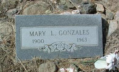 GONZALES, MARY LOUISE - Yavapai County, Arizona   MARY LOUISE GONZALES - Arizona Gravestone Photos