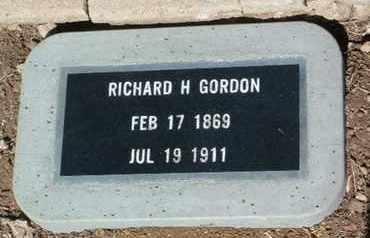 GORDON, RICHARD HENRY - Yavapai County, Arizona | RICHARD HENRY GORDON - Arizona Gravestone Photos