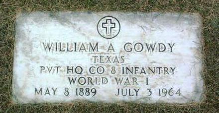 GOWDY, WILLIAM  A. - Yavapai County, Arizona | WILLIAM  A. GOWDY - Arizona Gravestone Photos