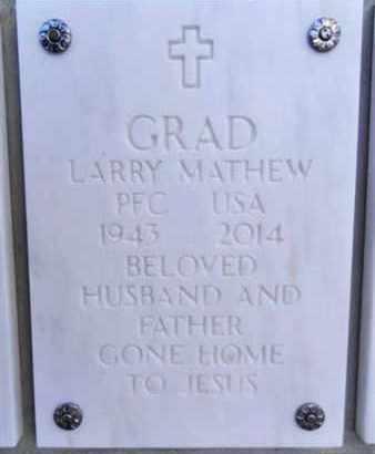 GRAD, LARRY MATHEW - Yavapai County, Arizona | LARRY MATHEW GRAD - Arizona Gravestone Photos