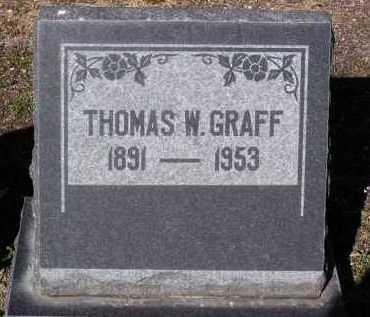 GRAFF, THOMAS W. - Yavapai County, Arizona | THOMAS W. GRAFF - Arizona Gravestone Photos