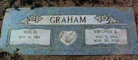 GRAHAM, VAN D. - Yavapai County, Arizona | VAN D. GRAHAM - Arizona Gravestone Photos