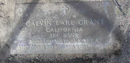 GRANT, CALVIN EARL - Yavapai County, Arizona | CALVIN EARL GRANT - Arizona Gravestone Photos