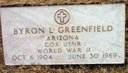 GREENFIELD, BYRON L. - Yavapai County, Arizona | BYRON L. GREENFIELD - Arizona Gravestone Photos